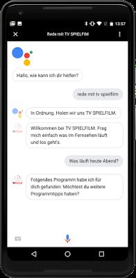 google actions tv spielfilm