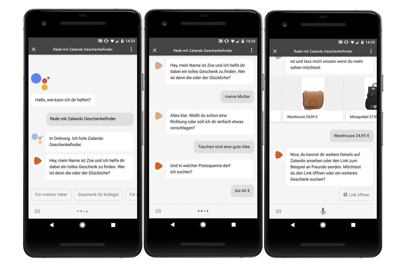 Zalando Action für Google Assistant