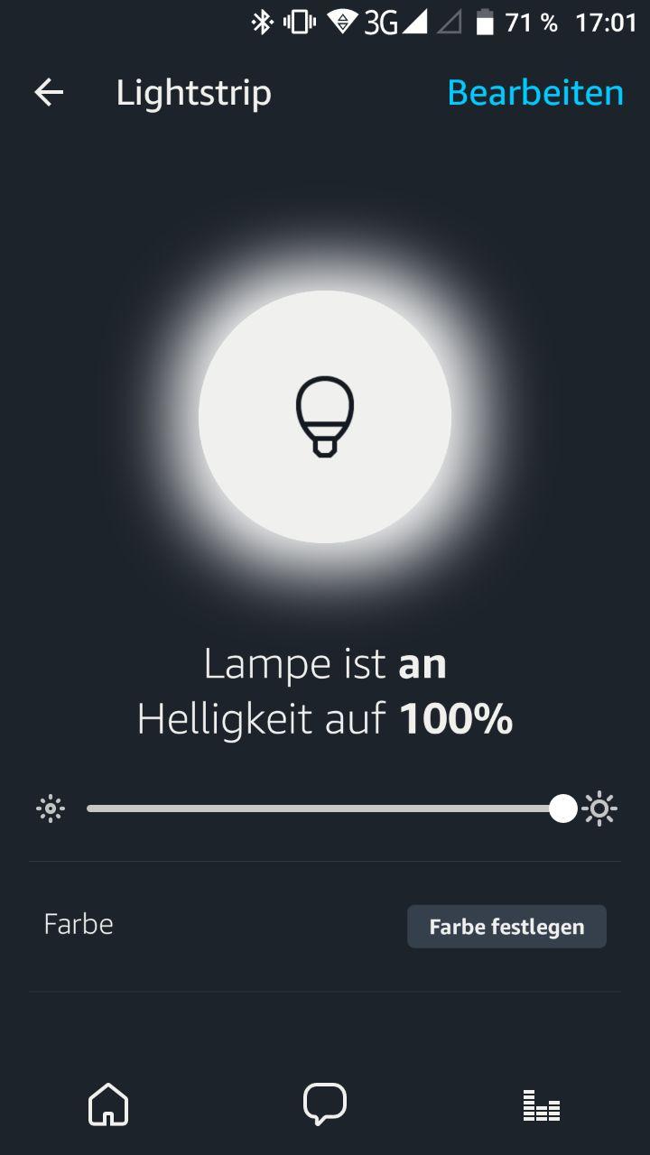 Alexa App Lampensteuerung
