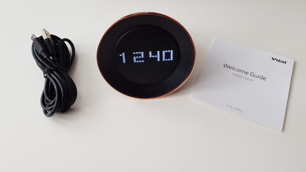 Lieferumfang des Vobot Smart Alarm Clock