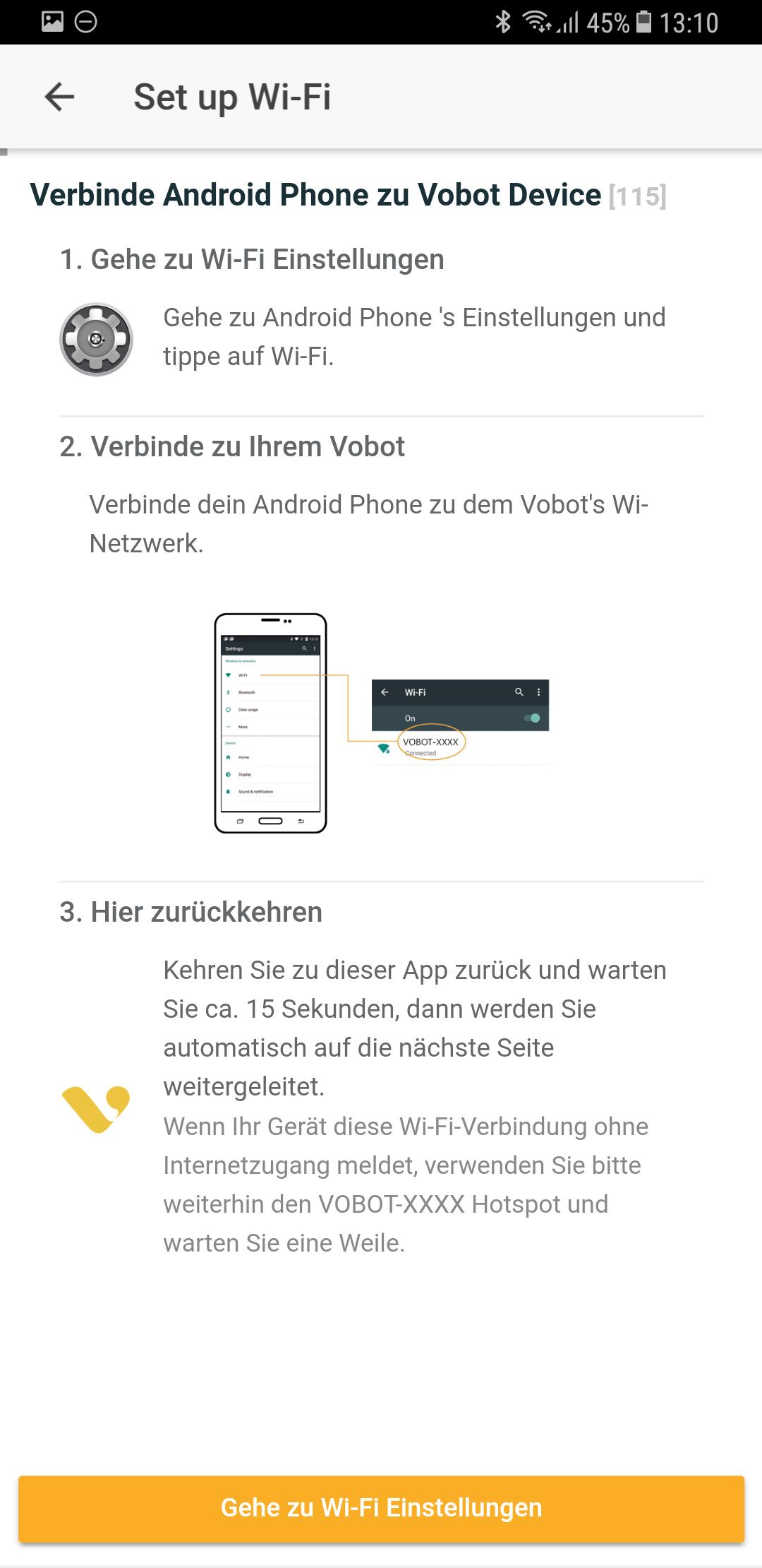 Wifi Setup Vobot Smart Alarm Clock