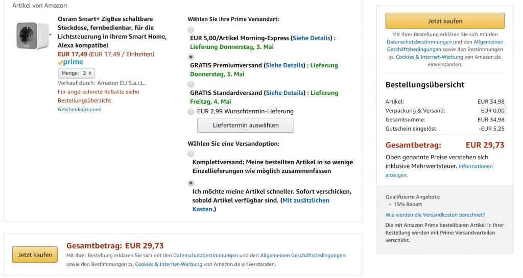 Osram Smart Plug Amazon Smarte Steckdose Im Angebot