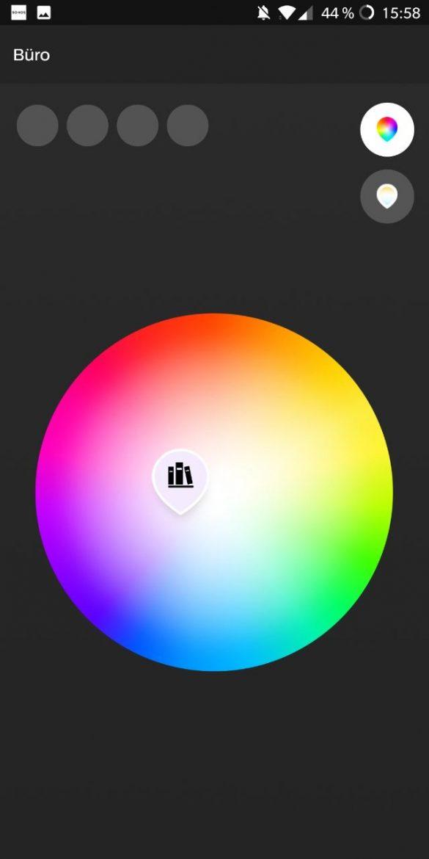 Hue App 3.0 Long Press Farb-Picker