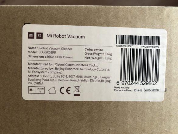 Mi Robot international Verpackung