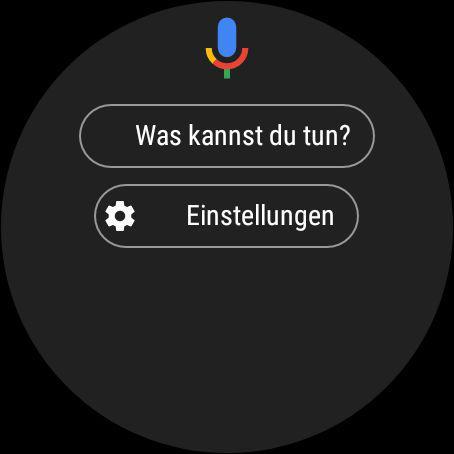 Google Assistant unter Wear OS