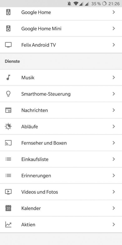 Google Home App Abläufe