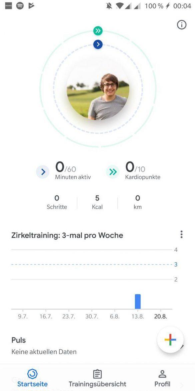Neue Google Fit Smartphone App