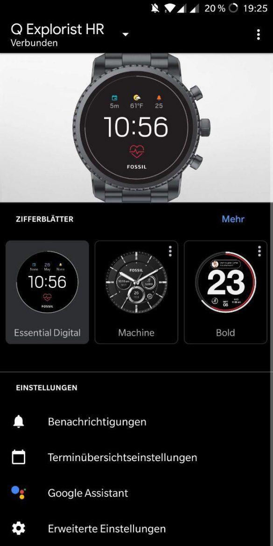 Wear OS App zur Einrichtung
