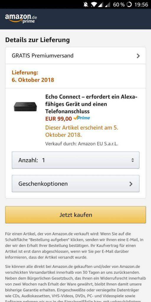 Echo Connect Deutschlandstart
