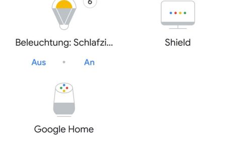 Smart Home Übersicht Google Home App
