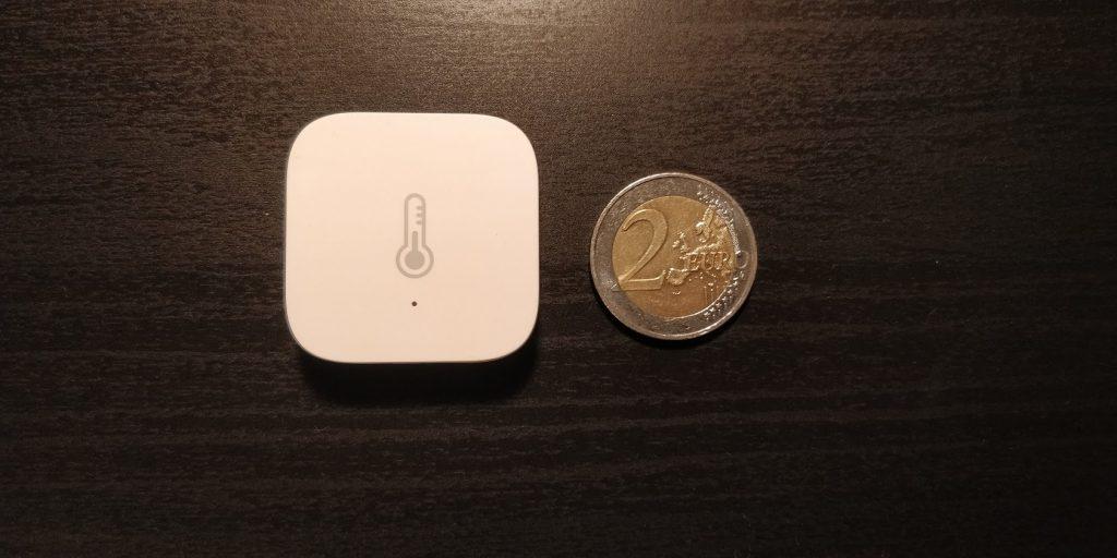 Xiaomi Temperatursensor Größenvergleich