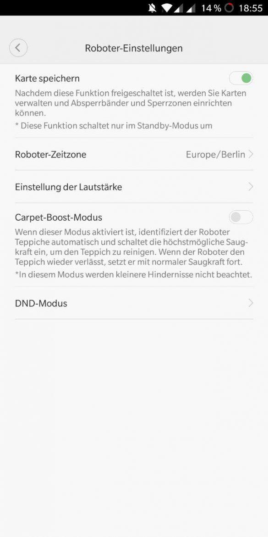 Xiaomi Roborock Karte speichern