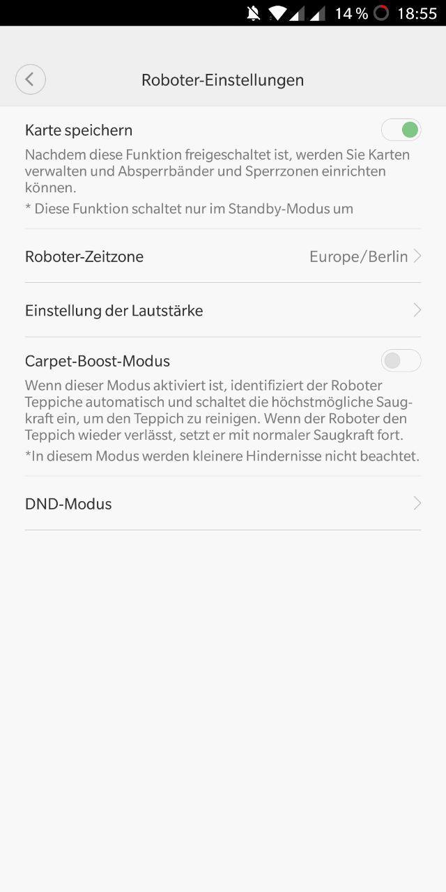 Xiaomi Roborock: No-Go Zonen werden auf dem EU-Server verteilt