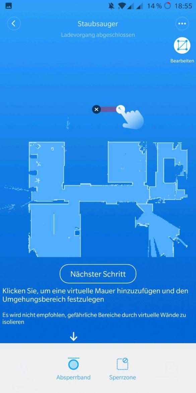 Xiaomi Roborock virtuelle Mauer