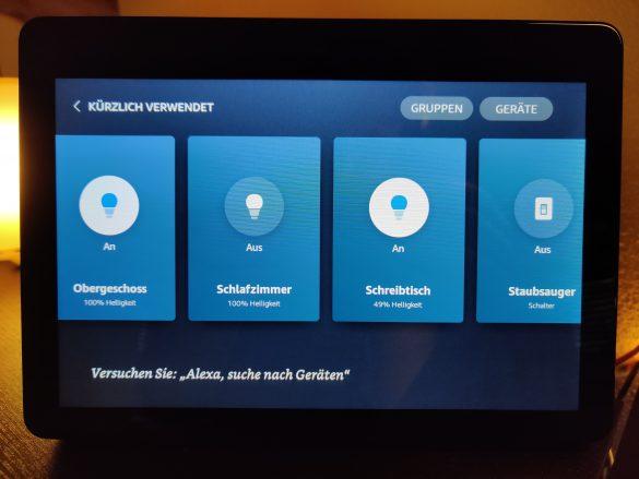 Echo Show Smart Home Geräte