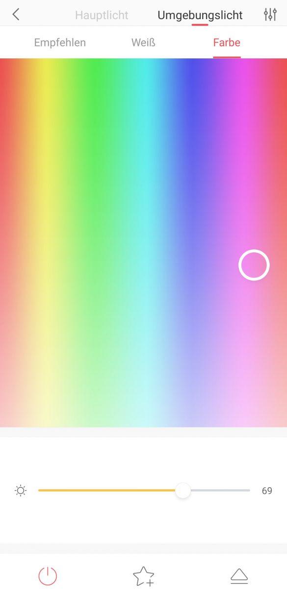 Yeelight App - Ambientlight Color